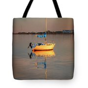 Sail Boat In Roanoke Sound 1x2 Ratio Photo Painting Img_3969 Tote Bag
