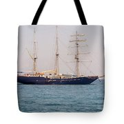 Sail Boat Near Galapagos Islands On Pacific Ocean Tote Bag