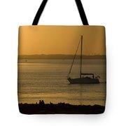 Sail Boat Sunset Tote Bag