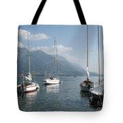 Sail Boats, Lake Como, Italy Tote Bag
