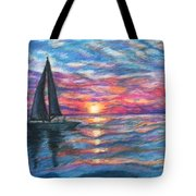 Sail On And Fly Like The Wind Tote Bag by The Art With A Heart By Charlotte Phillips