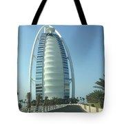 Sail-shaped Silhouette Of Burj Al Arab Jumeirah  Tote Bag