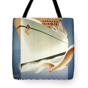 Sail White Empress To Europe - Canadian Pacific - Retro Travel Poster - Vintage Poster Tote Bag