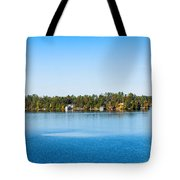 Sailboat And Cottages On Rocky Tote Bag