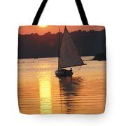 Sailboat And Sunset, South River Tote Bag