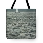 Sailboat And Waves, Piscataqua River, Maine 2004 Tote Bag