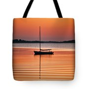 Sailboat At Sunset Tote Bag