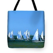 Sailboat Championship Racing 1 Tote Bag