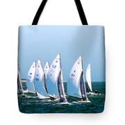 Sailboat Championship Regatta Tote Bag
