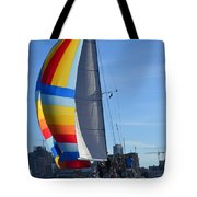 Sailboat In Seattle Tote Bag