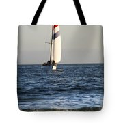 Sailboat Coming Ashore 1 Tote Bag