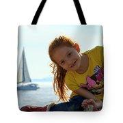 Sailboat Girl Tote Bag