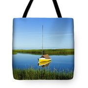Sailboat In Cape Cod Bay Tote Bag