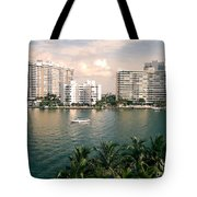 Sailboat In Miami Beach Florida Tote Bag