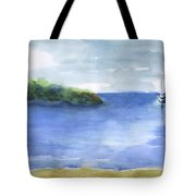 Sailboat In Still Waters Tote Bag