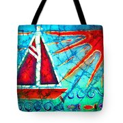 Sailboat In The Sun Tote Bag