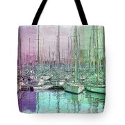 Sailboat Lineup - Watercolor Tote Bag