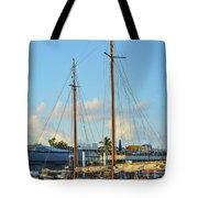 Sailboat, Mast, And Sails Tote Bag