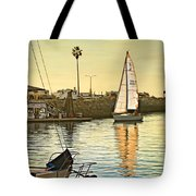 Sailboat On Arrival Tote Bag