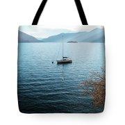 Sailboat On Lake Maggiore Tote Bag