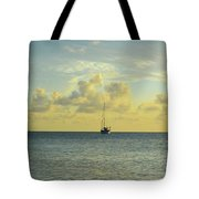 Sailboat On The Horizon Tote Bag