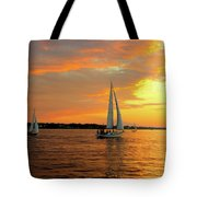 Sailboat Parade Tote Bag