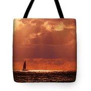 Sailboat Sun Rays Tote Bag