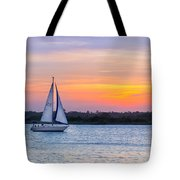 Sailboat Sunset Tote Bag