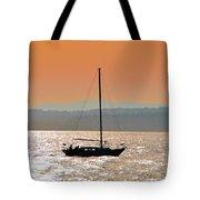 Sailboat With Bike Tote Bag