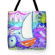 Sailboat With Sun Tote Bag