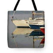 Sailboats And Reflections Tote Bag
