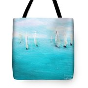 Sailboats  Tote Bag by Chaline Ouellet