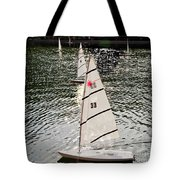 Sailboats In Central Park Tote Bag