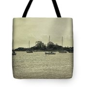 Sailboats In Gloucester Harbor Tote Bag