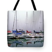 Sailboats In The Fog Tote Bag
