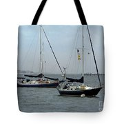Sailboats In The Inlet Tote Bag
