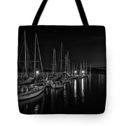 Sailboats Moored For The Evenin Tote Bag