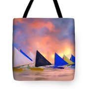 Sailboats On Boracay Island Tote Bag