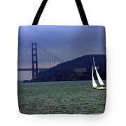 Sailing And The Golden Gate  Tote Bag