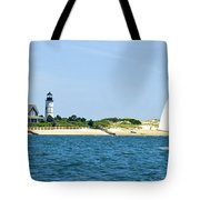 Sailing Around Barnstable Harbor Tote Bag