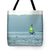 Sailing At La Playa Tote Bag