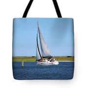 Sailing At Masonboro Island Tote Bag