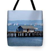 Sailing At Penn Cove Tote Bag