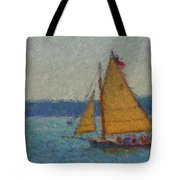 Sailing At Spruce Point Boothbay Harbor Maine Tote Bag