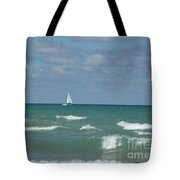 Sailing Away On The Lake Tote Bag