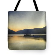 Sailing Boat In The Sunset Tote Bag