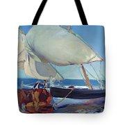 Sailing Boats Tote Bag by Joaquin Sorolla y Bastida