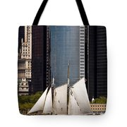 Sailing By Downtown Tote Bag