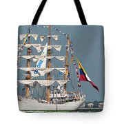 Sailing By The Battery Tote Bag