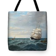 Sailing By The Coas Tote Bag